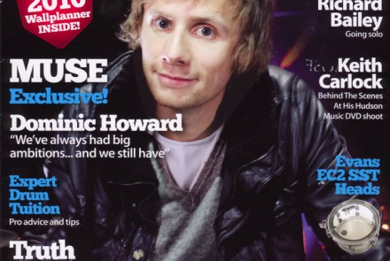 Jonathan Casey in Drummer Magazine